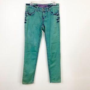 Hydraulic Jeans Green Wash Gramercy Skinny